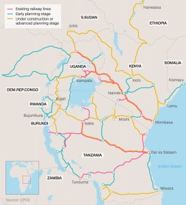East Africa Railway Network Map 3
