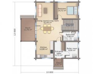 СП-185 план первого этажа eng
